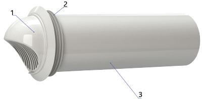 Конструкция воздуховода с колпаком